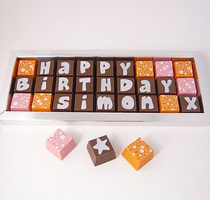 Personalised Birthday Chocolate Box - gifts for her