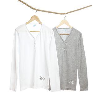 Men's Long Sleeve Pyjama Top - men's fashion