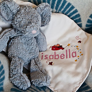 Organic Baby Name Personalised Fairy Blanket - bedding & accessories