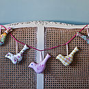 plain 5 bird garland (pastels)