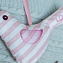 personalised embroidered bird (pinks)