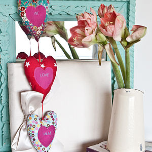 Hanging Hearts Personalised Decoration - mother's day gifts