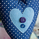 button heart (blues)