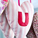 appliqued letter heart (pinks)