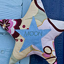 embroidered text star (pastels)