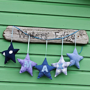 Personalised Star Garland - children's room accessories