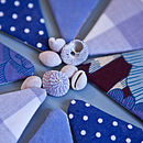 plain mini bunting (blues)