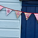 personalised appliqued mini bunting (pinks)