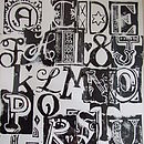 Letters used to print the Personalised Initials Cards