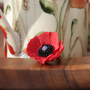 Classic Poppy Brooch - pins & brooches