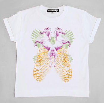 Psychedelic Animals Girl's T Shirt