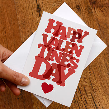 'Happy Valentines Day' Card