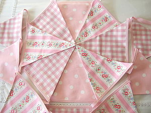 Pink Bunting In Various Designs - bunting & garlands