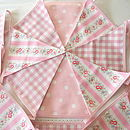 Pink Bunting In Various Designs