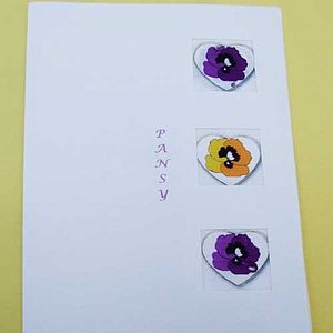 Pansy Heart Seed Card