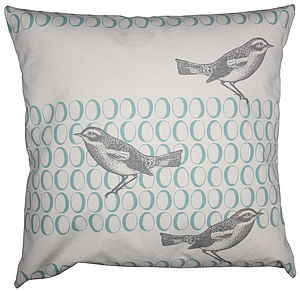 Bird And Egg Canvas Cushion