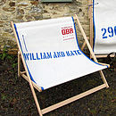 His and Her's recycled sailcloth double deckchair