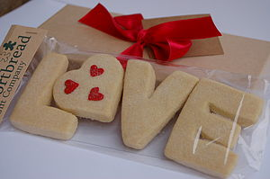 'LOVE' Shortbread Biscuits - food & drink gifts