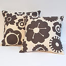Big Flower Vintage Floral Cushion