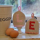Personalised Linen Egg Cosy