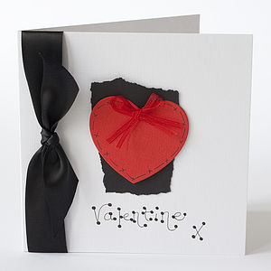 Personalised Heart Valentine Card
