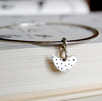 'A Little Bird Told Me' Silver Bangle