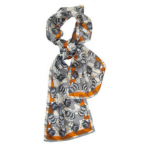 Geo Bug Long Silk Scarf - scarves