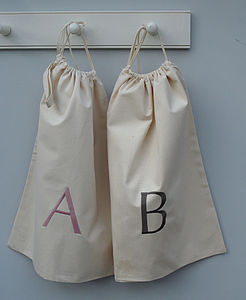 Personalised Canvas Drawstring Bag