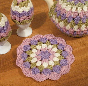 Handmade Crochet Spring Pot Stand - placemats & coasters