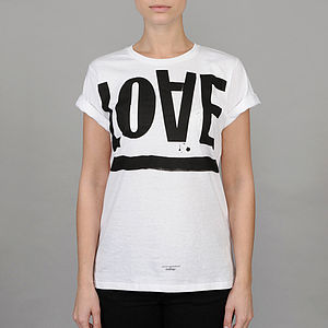 Love Hate T-Shirt - marvellous monochrome