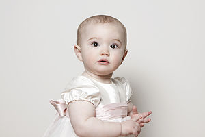 'Princess' Silk And Tulle Christening Gown - personalised