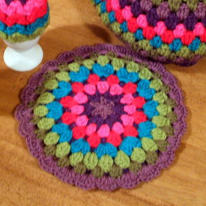 Crocheted Vintage Style Tea Pot Hot Pad