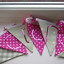 Bespoke bunting in pink and green