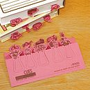 Set Of Ten Food Card Page Markers