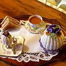 Handmade Crochet Viola Tea Cosy
