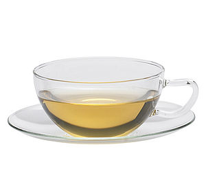 Opus Glass Cup & Saucer 150ml - tableware