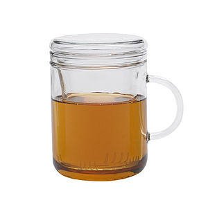 Zyclo Glass Mug With Infuser And Lid - kitchen