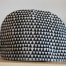 Hand Made Tea Cosy Indigo Triangles