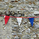 Red white and blue recycled sailcloth bunting