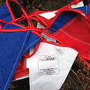 Recycled sailcloth bunting