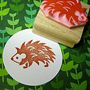 Spiky Hedgehog Rubber Stamp