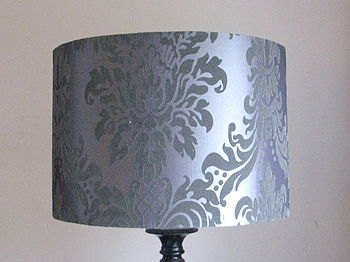 Silver Damask 16' Large Lampshade £20
