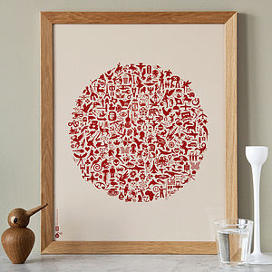 Typographic Icon Print