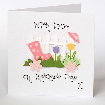 Handmade Picket Fence Mother's Day Card