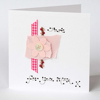 Handmade Flower Mother's Day Card