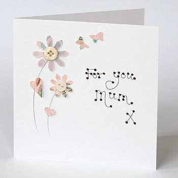 Handmade Flower Birthday Card