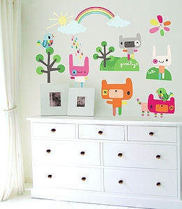 Rainbow Toys Fabric Wall Stickers - wall stickers