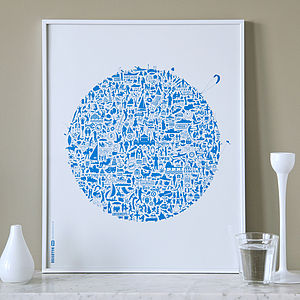 Typographic Brighton Map Print