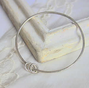 Single Bangle With Hoops - bracelets & bangles