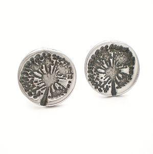 Dandelion Wish Silver Stud Earrings - women's jewellery